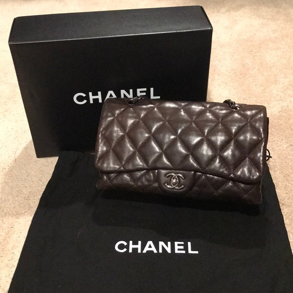 c461e5ec3aa0 CHANEL Bags | Lambskin Quilted 3 Accordion Flap Brown | Poshmark